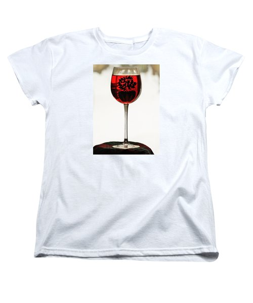 Women's T-Shirt (Standard Cut) featuring the photograph Glass Of Wine... by Al Fritz