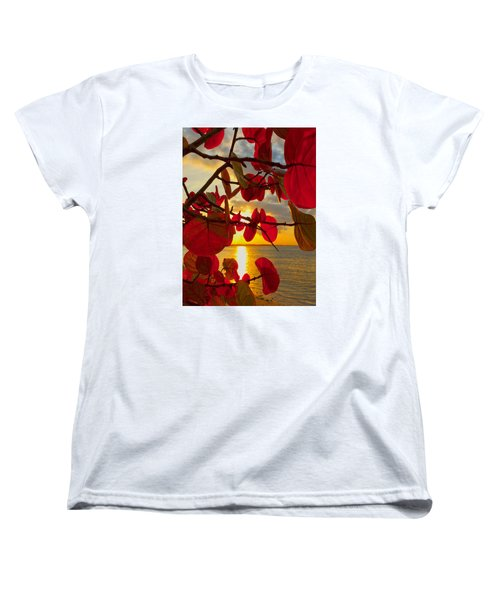 Glowing Red Women's T-Shirt (Standard Cut) by Stephen Anderson
