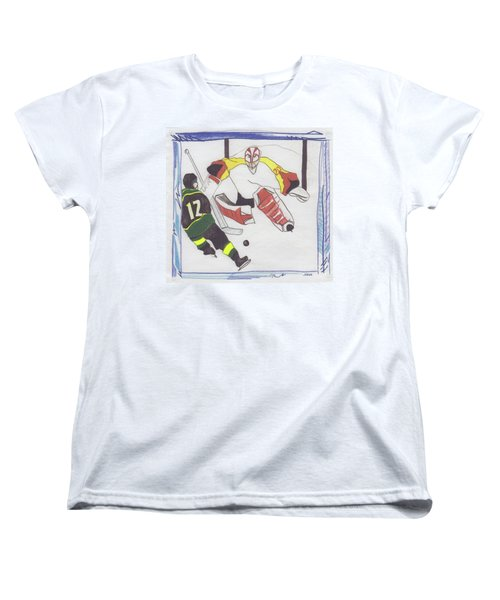 Women's T-Shirt (Standard Cut) featuring the drawing Shut Out By Jrr by First Star Art