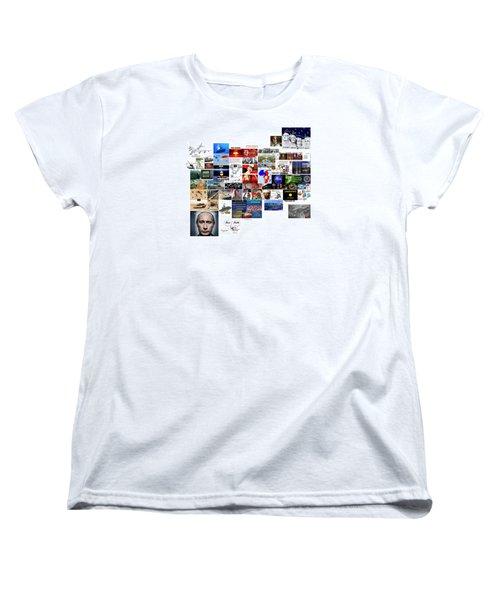 Goal Post Putin Women's T-Shirt (Standard Cut) by Peter Hedding