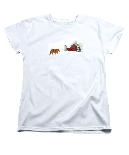 Women's T-Shirt (Standard Cut) featuring the photograph Going Home by Ann Lauwers