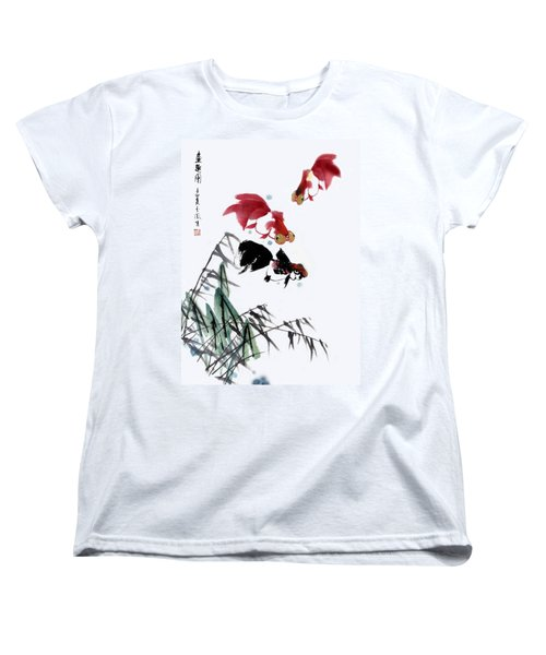 Gold Fish Women's T-Shirt (Standard Cut) by Yufeng Wang