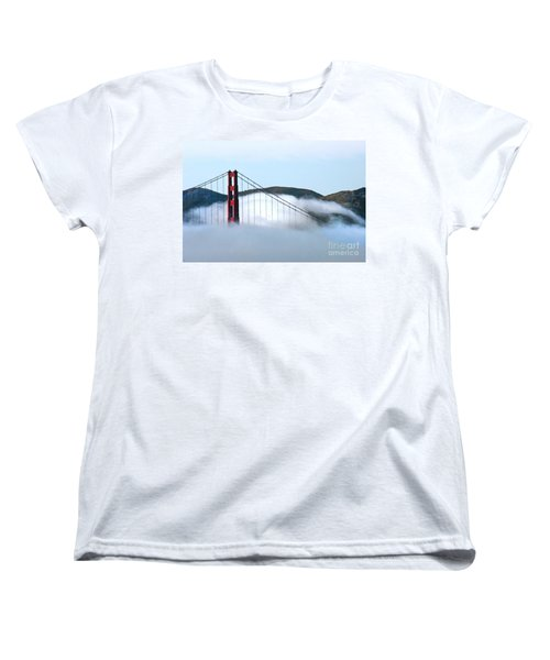 Golden Gate Bridge Clouds Women's T-Shirt (Standard Cut)