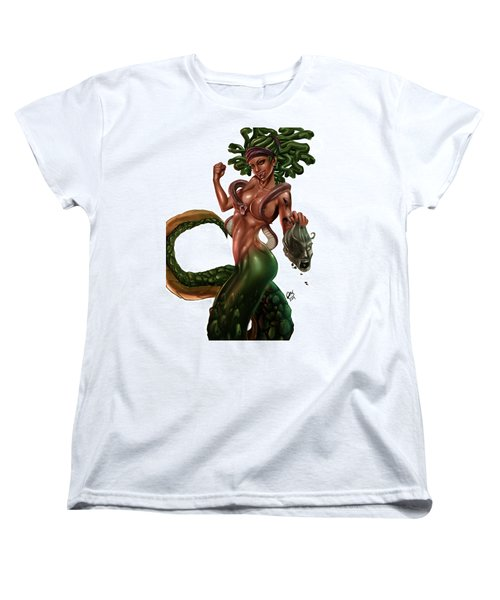 Gorgon Women's T-Shirt (Standard Cut) by Pete Tapang