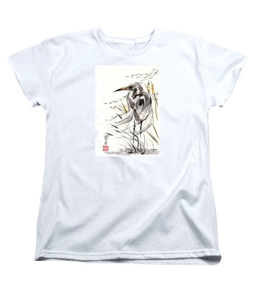 Women's T-Shirt (Standard Cut) featuring the painting Grace Of Solitude by Bill Searle