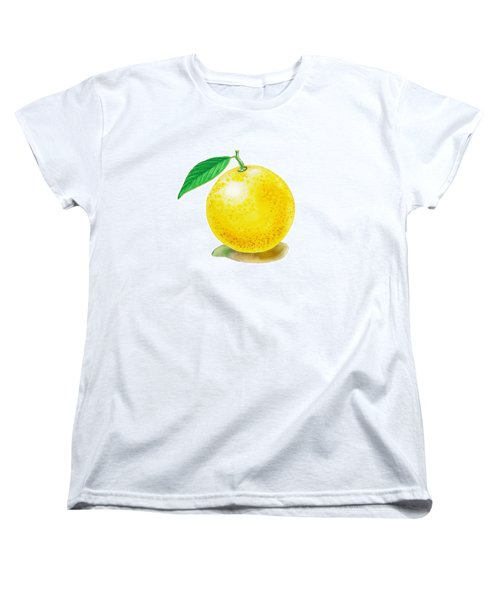 Women's T-Shirt (Standard Cut) featuring the painting Grapefruit by Irina Sztukowski