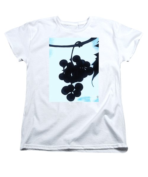 Women's T-Shirt (Standard Cut) featuring the drawing Grapes by D Hackett