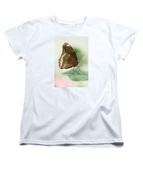 Great Eggfly Butterfly Women's T-Shirt (Standard Cut) by Judy Whitton