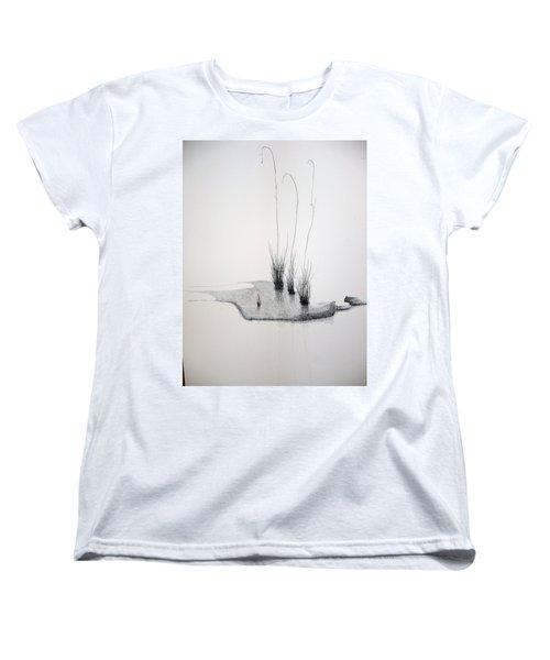 Women's T-Shirt (Standard Cut) featuring the painting Greek Chorus by A  Robert Malcom
