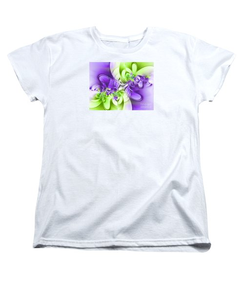 Green And Purple Women's T-Shirt (Standard Cut) by Lena Auxier