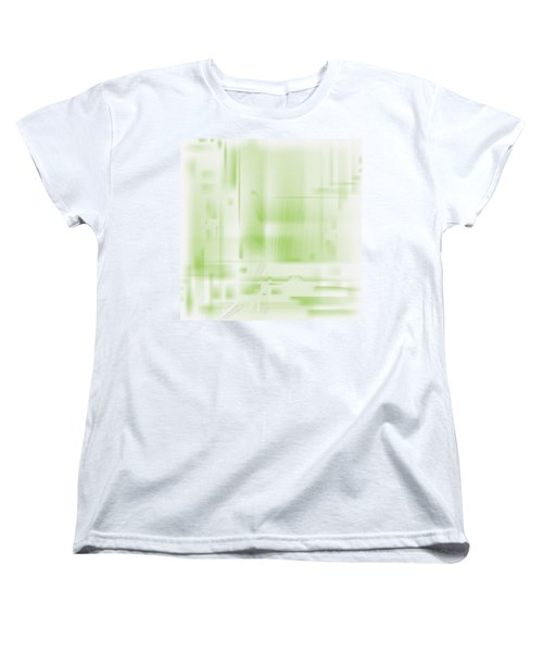 Green Ghost City Women's T-Shirt (Standard Cut) by Kevin McLaughlin