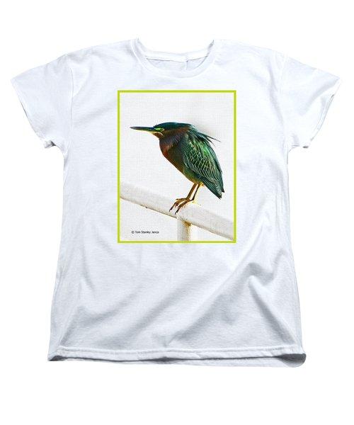 Green Heron In Scottsdale Women's T-Shirt (Standard Cut) by Tom Janca