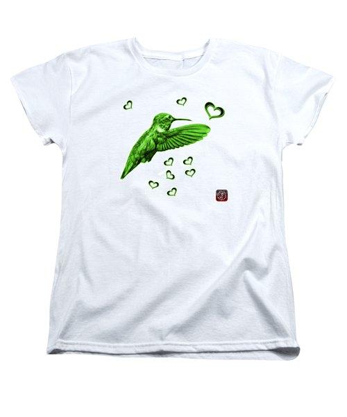 Women's T-Shirt (Standard Cut) featuring the digital art Green Hummingbird - 2055 F S M by James Ahn