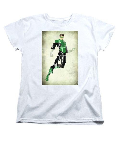 Green Lantern Women's T-Shirt (Standard Cut) by Ayse Deniz