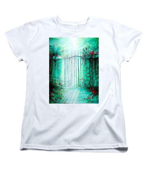 Green Skeleton Gate Women's T-Shirt (Standard Cut)