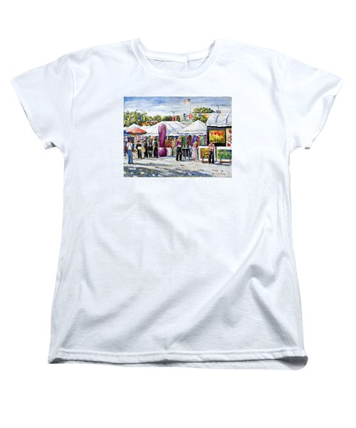 Greenwich Art Fair Women's T-Shirt (Standard Cut) by Alexandra Maria Ethlyn Cheshire