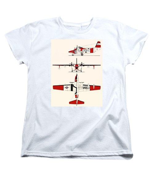 Grumman Hu-16e Albatross Women's T-Shirt (Standard Cut) by Mountain Dreams