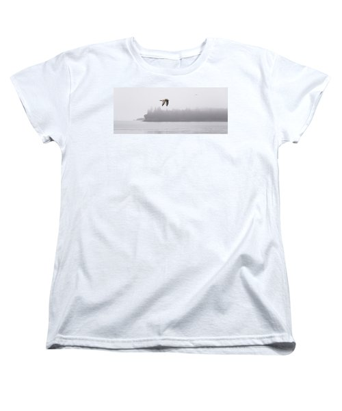 Gull In Flight Women's T-Shirt (Standard Cut) by Marty Saccone