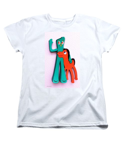 Gumby And Pokey B F F Women's T-Shirt (Standard Cut)