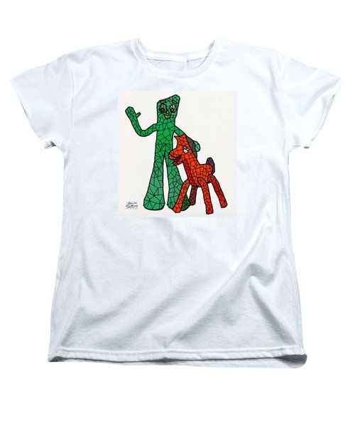 Gumby And Pokey Not For Sale Women's T-Shirt (Standard Cut) by Bruce Nutting