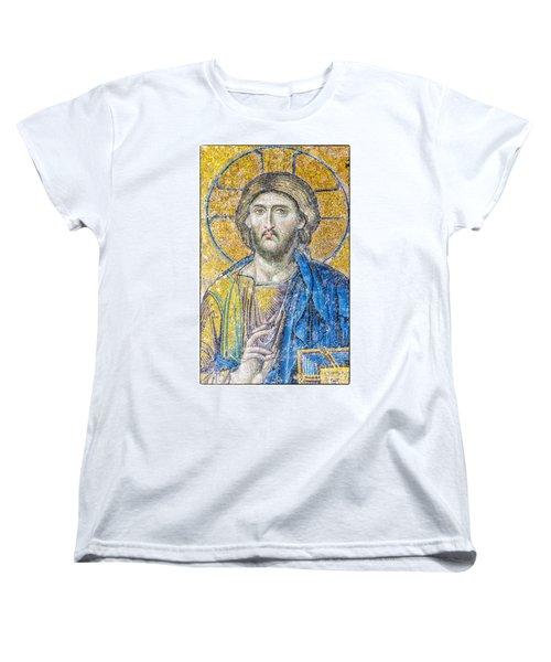 Hagia Sofia Jesus Mosaic Women's T-Shirt (Standard Cut) by Antony McAulay