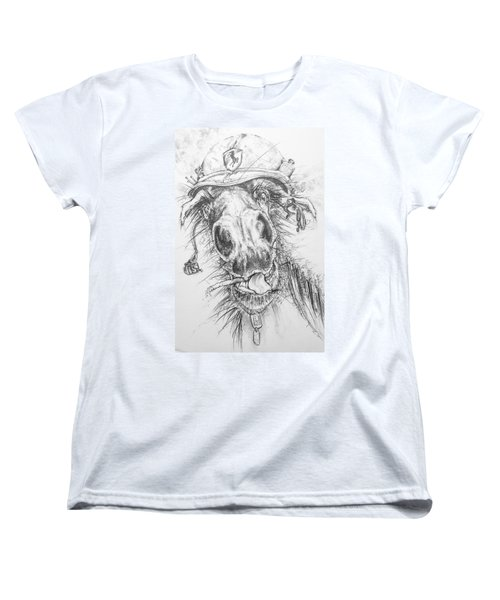Hair-ied Horse Soilder Women's T-Shirt (Standard Cut) by Scott and Dixie Wiley