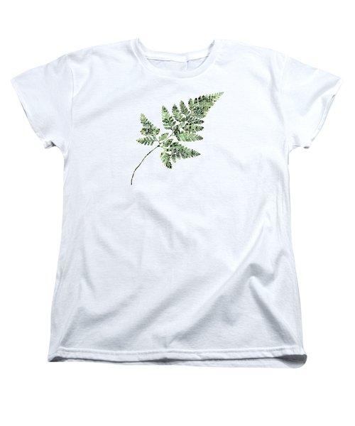 Women's T-Shirt (Standard Cut) featuring the photograph Happy Adventure Music Fern by Sandra Foster