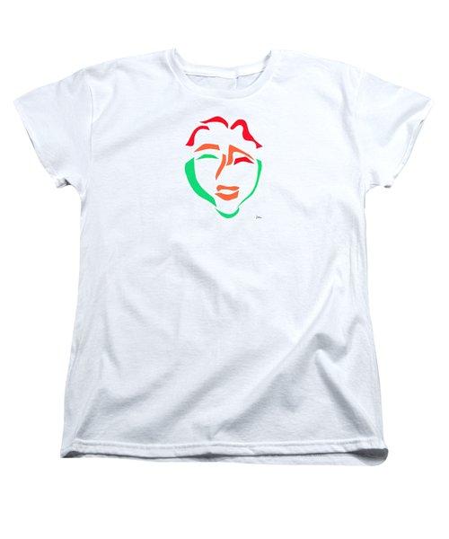 Happy Face Women's T-Shirt (Standard Cut) by Delin Colon