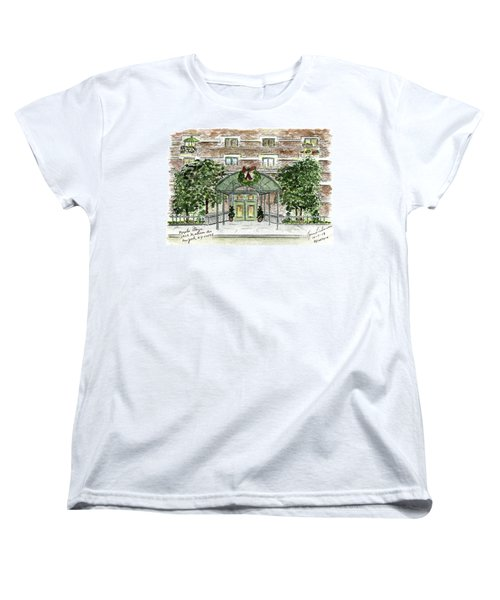 Happy Holidays At 1919 Madison Avenue In Harlem Women's T-Shirt (Standard Cut) by AFineLyne