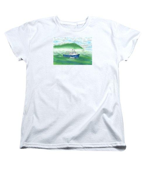 Harbor Women's T-Shirt (Standard Cut) by Troy Levesque