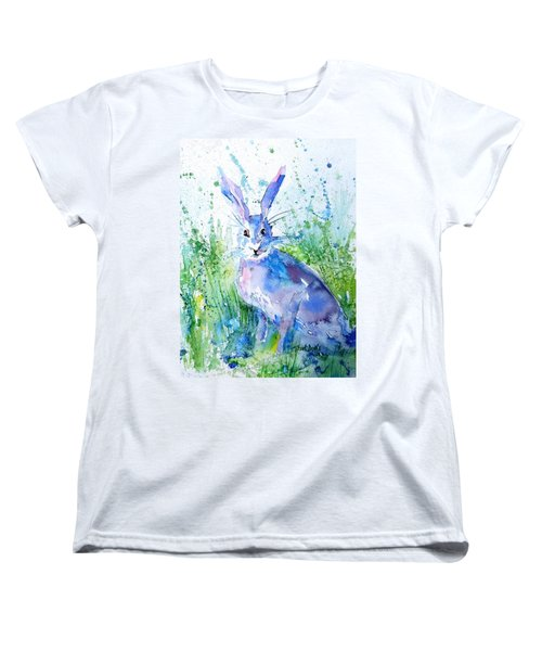 Hare Stare Women's T-Shirt (Standard Cut) by Trudi Doyle