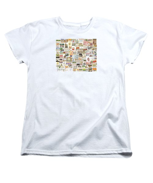 Harlem Collage Of Old And New Women's T-Shirt (Standard Cut) by AFineLyne