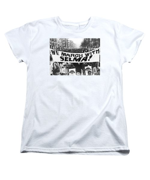 Harlem Supports Selma Women's T-Shirt (Standard Cut) by Stanley Wolfson