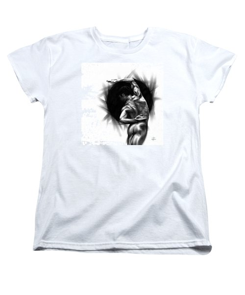 Women's T-Shirt (Standard Cut) featuring the drawing Harmony by Paul Davenport