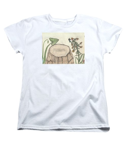 Women's T-Shirt (Standard Cut) featuring the painting Harvested Beauty by Kim Pate