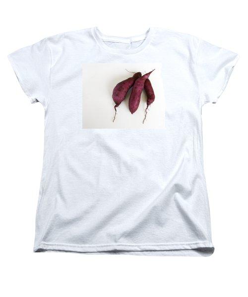 Hawaiian Purple Sweet Potatos Women's T-Shirt (Standard Cut) by Denise Bird