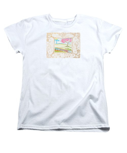 Women's T-Shirt (Standard Cut) featuring the painting He Restores My Soul by Cassie Sears
