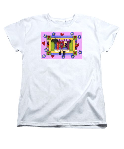 Heart For Ewe Women's T-Shirt (Standard Cut) by Tracy Campbell
