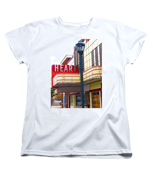 Heart Theatre Effingham Illinois  Women's T-Shirt (Standard Cut) by Suzanne Lorenz