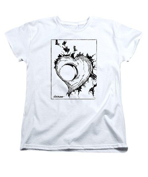 You Left A Whole In My Heart Women's T-Shirt (Standard Cut) by Dani Abbott