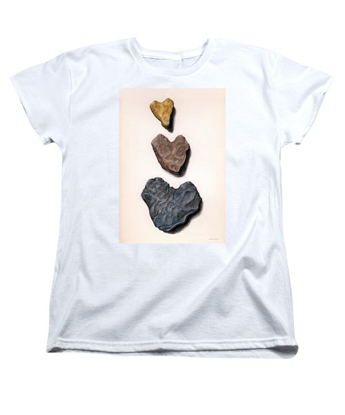 Hearts Rock Women's T-Shirt (Standard Cut)