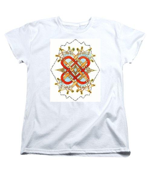 Hebrew Words For Love Women's T-Shirt (Standard Cut) by Hidden  Mountain