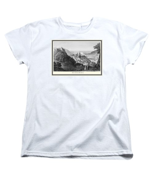 Heidelberg Etching Women's T-Shirt (Standard Cut) by Rudi Prott