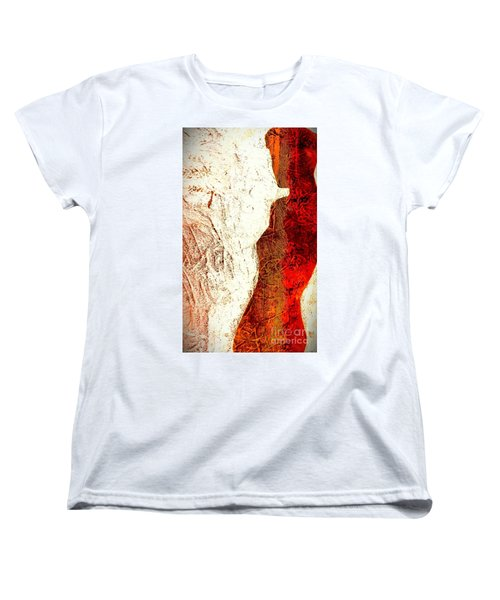 Her Red Silhouette Women's T-Shirt (Standard Cut) by Jacqueline McReynolds