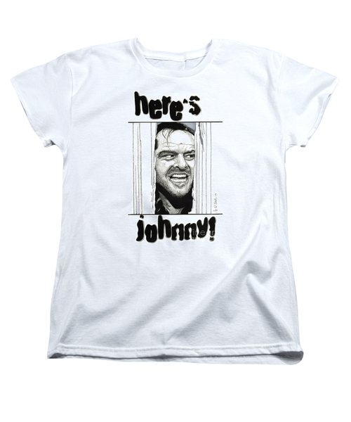 Here's Johnny Women's T-Shirt (Standard Cut) by Cory Still