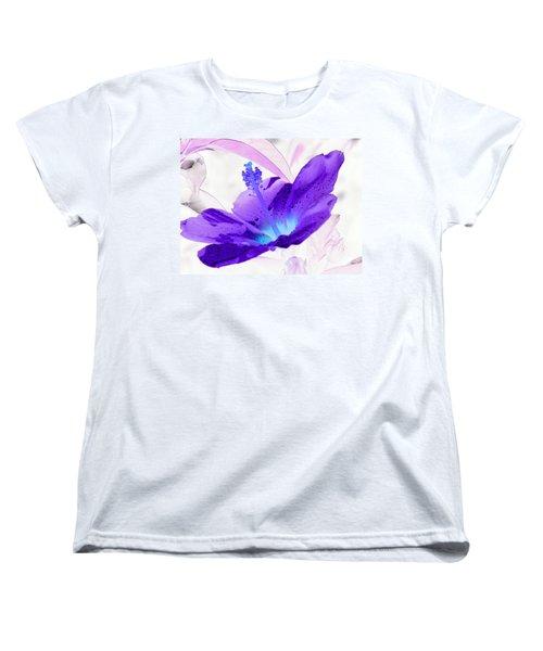 Hibiscus - After The Rain - Photopower 754 Women's T-Shirt (Standard Cut) by Pamela Critchlow