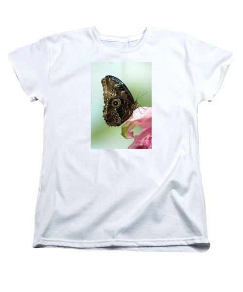 Women's T-Shirt (Standard Cut) featuring the photograph Hidden Beauty Of The Butterfly by Debbie Green