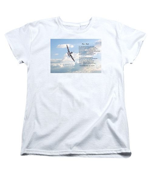 High Flight Women's T-Shirt (Standard Cut) by Pat Speirs