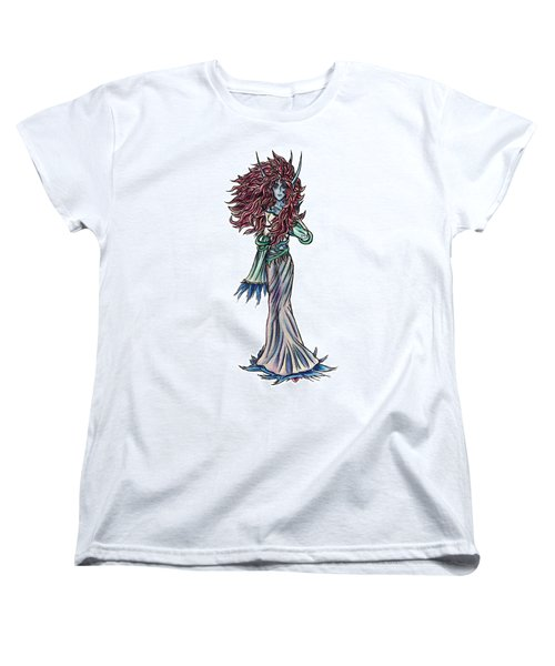 Women's T-Shirt (Standard Cut) featuring the painting High Ogre Elessidia by Shawn Dall