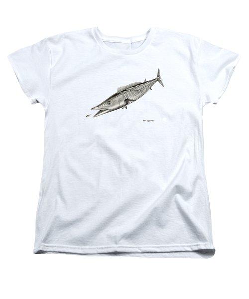 High Speed Wahoo Women's T-Shirt (Standard Cut) by Steve Ozment